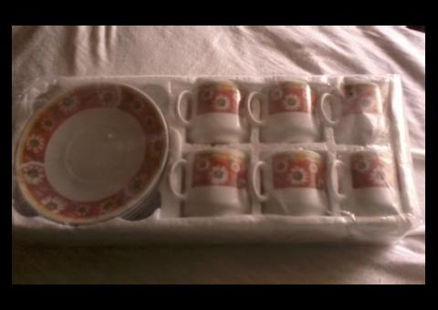 Кофейный сервиз керамический 6-ти предметный