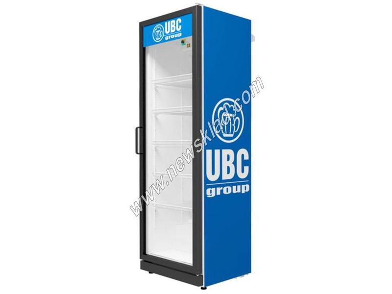 Холодильна шафа зі скляними дверима на 350 л