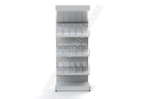 Металлический торговый стеллаж кондитерский 2100 * 950 мм